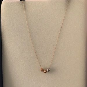 Add-a-bead 14kt gold necklace